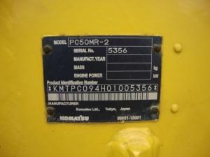 コマツ PC50MR-2 コーションプレート