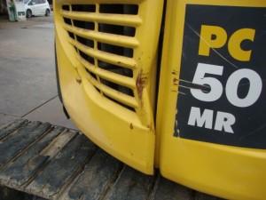 コマツ PC50MR-2 ヘコミ
